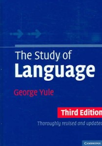 [1] Yule, G., (2010). The Study of Language. Cambridge: Cambridge University Press.